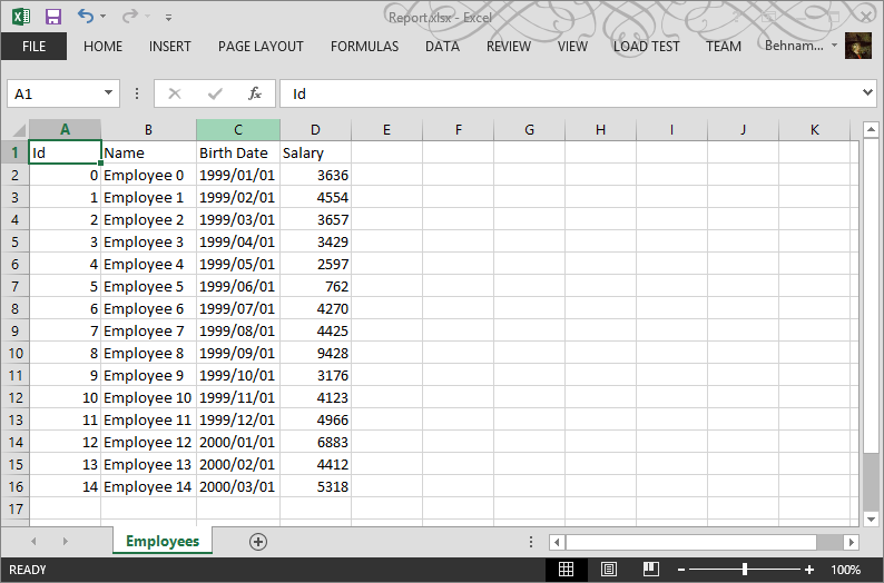 How to create an Excel file in  NET using OpenXML – Part 2: Export a